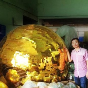 China 22 2M giant Gold Mirror mosaic Disco ball on sale