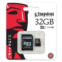Kingston 32GB in Packet Micro SD SDHC Memory Card Class 10 + Adapter