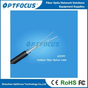 China Small Diameter Low Cost Pipeline Laying Of FTTH Cabling.GYXTPY Outdoor 2-12 Cores Fiber Optic Cable on sale