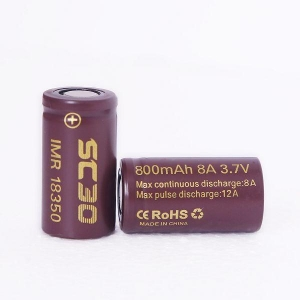 China Best Button Top Chocolate SC30 18350 800mAh 8A 3.7V Mod Battery on sale