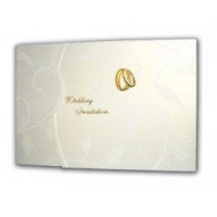 China Golden rings pearlescent wedding invitations Product Code: SSC7036WG on sale