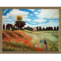China Hand Painted Oil on Canvas Reproduction of A Famous Claude Monet Painting Poppy Field in Argenteuil on sale