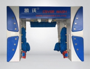 China Dark blue frame 7 brush cover roll-over car wash machine on sale