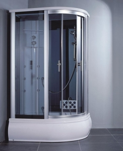 China Computer Controlled Sliding Complete Glass Steam Shower Cabinet for Sale on sale