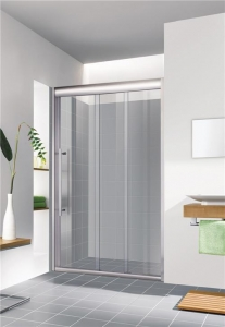 China Nano Glass 3 Linked Sliding Framed Shower Screen with Special Profile on sale