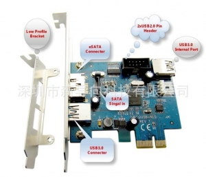 China USB 3.0 PCIe to USB3.0+Power eSATA Controller Card on sale