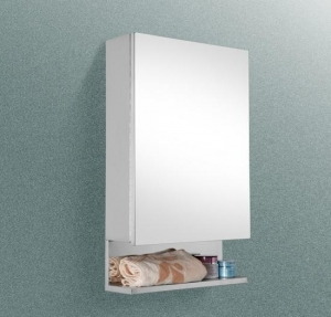 China Stainless steel 1 mirror door with one shelf medicine cabinet on sale