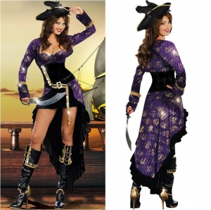 China Low bosom Fashion Women Pirate Costumes on sale