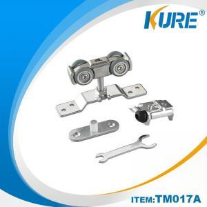 China Kure Hanging Sliding Door Hardware Slider Buffer & Hangers Roller Sets on sale