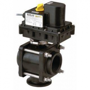 China Banjo 3-Way Electric On / Off Ball Valves on sale