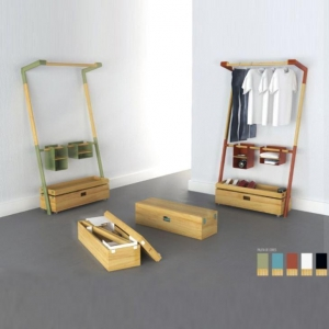 China Multi Functional Shelves to Hang Your Clothes with Wooden Square Box, Furniture Shelves on sale
