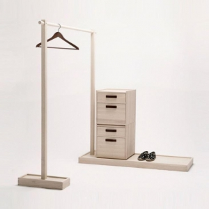 China Solid Ash Wood From Danish Forest and Surface with Natural Wax Clothing Rack on sale
