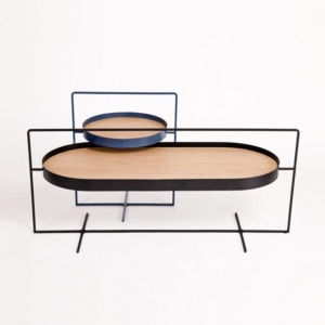 China A Pair of Tables That Is Designed The Basket Coffee and Side Tables for Clothing Display Tables on sale