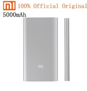 China 100% Original Xiaomi 5000mAh Power Bank External Battery Pack For iPhone Samsung Smartphone on sale