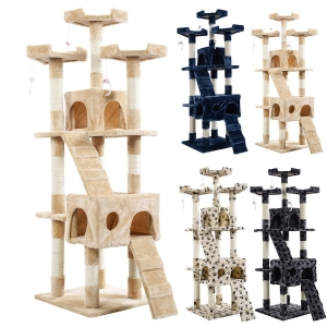 China New 66 Cat Tree Tower Condo Furniture Scratching Post Pet Kitty Play House on sale