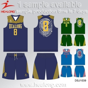 China Custom College Cheap Reversible Sublimation Basketball Uniform on sale