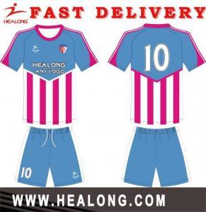 China Streak Custom Design Sublimation Soccer Jersey Design on sale