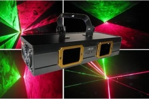 China Step Motos Laser 150mW/250mW Red & Green Double Eyes Laser Light on sale