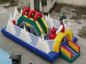 China Many different style for your choose inflatable bouncy castle fun city on sale