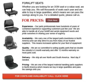 China Seats for Forklift on sale