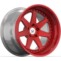 Red Light Concave Forged Wheels Rims 3 Piece