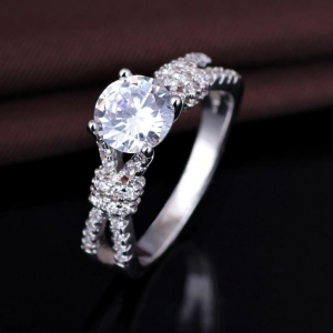 China Cheap S925 Sterling Silver Wedding Ring Design For Women on sale