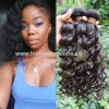 China Double Weft No Shed Good Quality Virgin Brazilian Deep Wave Human Hair Weft for sale