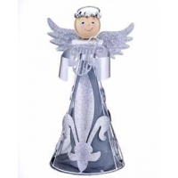 China Angel Figurine - Silver Harp on sale