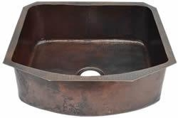 China 16 Gauge D-Shape Copper Kitchen Sink Undermount or Drop In (Various Colors and Sizes) on sale