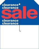 China 5 1/2 x 7 Slotted Clearance Sale Price Tag on sale
