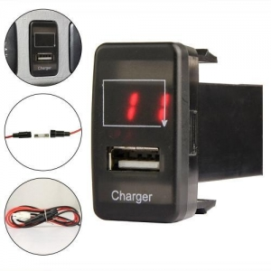 China MICTUNING TOYOTA USB 2.0 Charger for Mobile Device and Voltmeter Tester with Red LED Light on sale