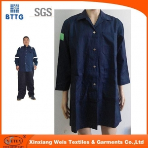 China 100% Cotton Flame Retardant Lab Coats on sale
