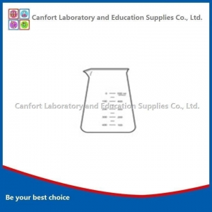 China Laboratory glassware LG003Conical Beaker with lip, boro 3.3 on sale