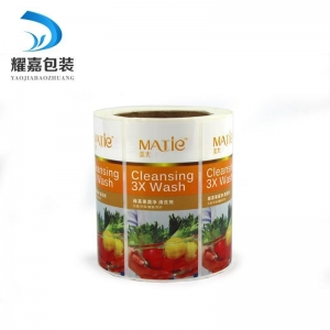 China Self Adhesive Label Green tea fruit and vegetable detergent label on sale