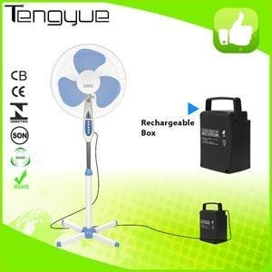 China Best price 16inch solar rechargeable stand fan dc 12vTY-F14 on sale
