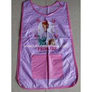 China Apron Waterproof PVC Double Sided Children Pattern Apron on sale