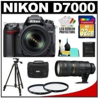 Nikon D7000 Digital SLR Camera & 18-105mm VR DX AF-S Zoom Lens with 70-200mm f/2.8G VR II AF-S Lens