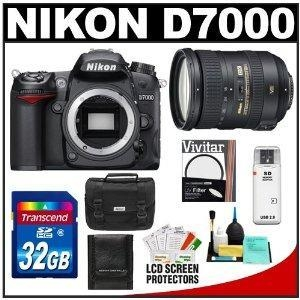 China Nikon D7000 Digital SLR Camera Body with 18-200mm VR II Zoom Lens + 32GB Card + Filter + Case + Acce on sale