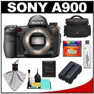 China Sony Alpha DSLR-A900 Digital SLR Camera Body with Sony Case + 16GB Card + Battery + Accessory Kit on sale