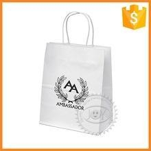 China Brown Kraft Paper Bag With Twist Handle For Kraft Shoping Bags on sale