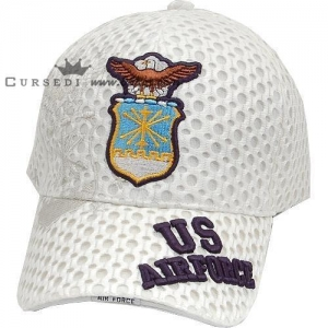 China Custom air force mesh run hat with embroidery on sale