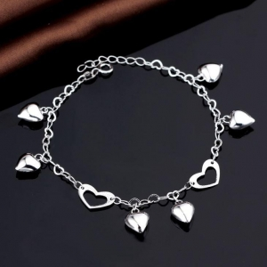 China Cheap 925 Sterling Silver Charm Bangle Bracelet For Women on sale