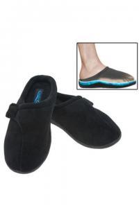 China Men's & Women's Comfort Gel Slippers Cushioned Black Slides Mules Indoor/Outdoor on sale