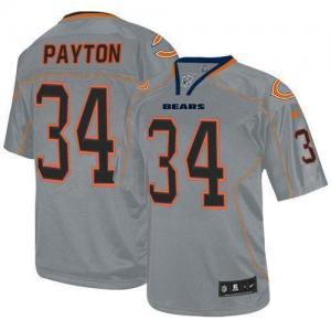 China Nike Bears #34 Walter Payton Lights Out Grey Men's Stitched NFL Elite Jersey on sale