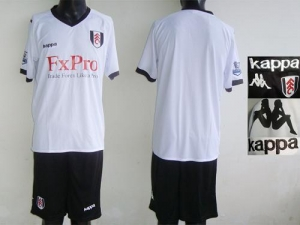 China Fulham Blank White Home Soccer Club Jersey on sale