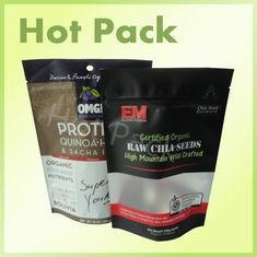China CE Certified Raw Chia Seed Stand Up Pouch Bags Resealable With Clear Window on sale