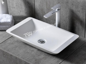 China italy design bathroom solid surface sink(TPBS9002) on sale