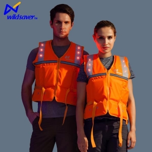 China LED Flashing Reflective Safety Inflatable Life Vest Jackets for Mens and Womens on sale