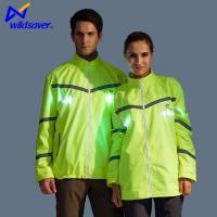 LED Flashing Jacket Motorcycle Hiking Running Fits Over Outdoor Clothing