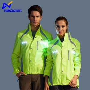 China Mens Casual Black Green Blue Safety Sports Jackets with LED Warning on sale